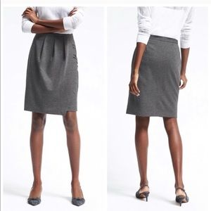 New banana republic pleated faux wrap pencil skirt